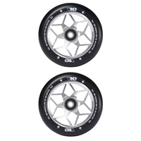 Envy Diamond 110mm Scooter Wheels Set Of 2 Silver