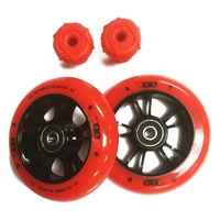Envy One Colour Pack Red 100mm Wheels And Bar Ends