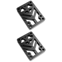 Mini Logo Skateboard Riser Pads 1/2 Pair Black