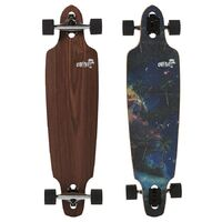 Obfive Fantasy Island Drop Through 38 Longboard Skateboard Complete