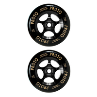 Proto Grippers 110mm Scooter Wheels Set Of 2 - Black On Black