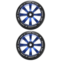 Revolution - 110mm Twin Core Scooter Wheels Set Of 2 With Bearings - Blue