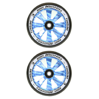 Root Industries Turbine 110mm Wheel Set - Black Pu Blue Carbon
