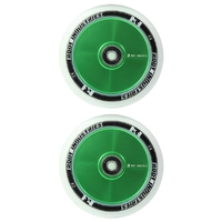 Root Industries Air 110mm Wheel Set White Pu Green Core