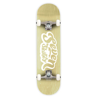 "Seven Complete Skateboard 7.8"" Basic Logo Natural"