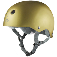 Triple 8 Brainsaver Sweatsaver Helmet Gold Size Small Skate Scooter