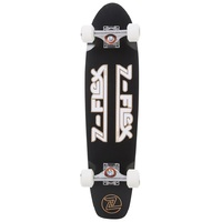 Z-Flex Complete Cruiser Skateboard - Z-Bar Black White 29""