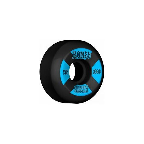 Bones Skateboard Wheels - 53mm 100's - Black Blue V5