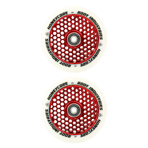 Root Industries Honey Core 120mm Wheel Set - White Red