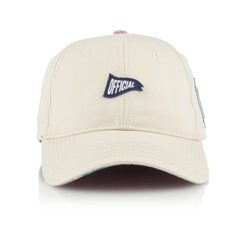 Official 6 Panel Hat - Mast White Adjustable