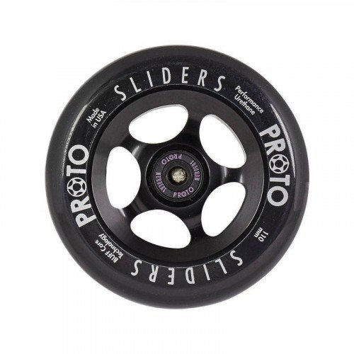 Proto Sliders 110mm Scooter Wheels Set Of 2 - Black Black