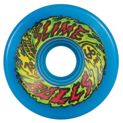 Santa Cruz Slime Balls Skateboard Wheels - 66mm 78A - Blue