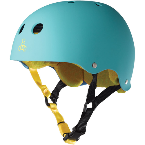 Triple 8 Brainsaver Sweatsaver Helmet Baja Teal Size Medium Skate Scooter