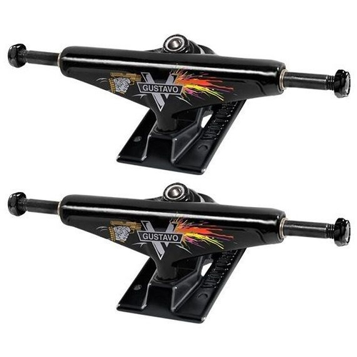 "Venture Skateboard Trucks 5.25"" Low Light Gustavo Set Of 2 Trucks"
