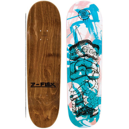Z-Flex Skateboard Deck Blue Totem 8.5